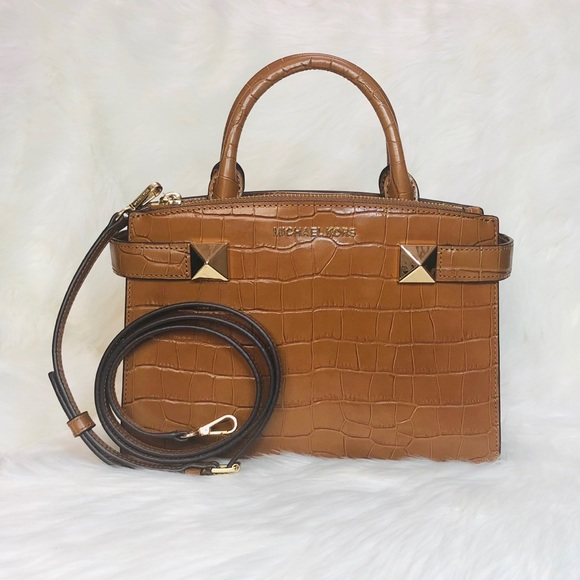 1413623b69fb51 Michael Kors Bags | Karla Small Satchel Embossed Leather | Poshmark